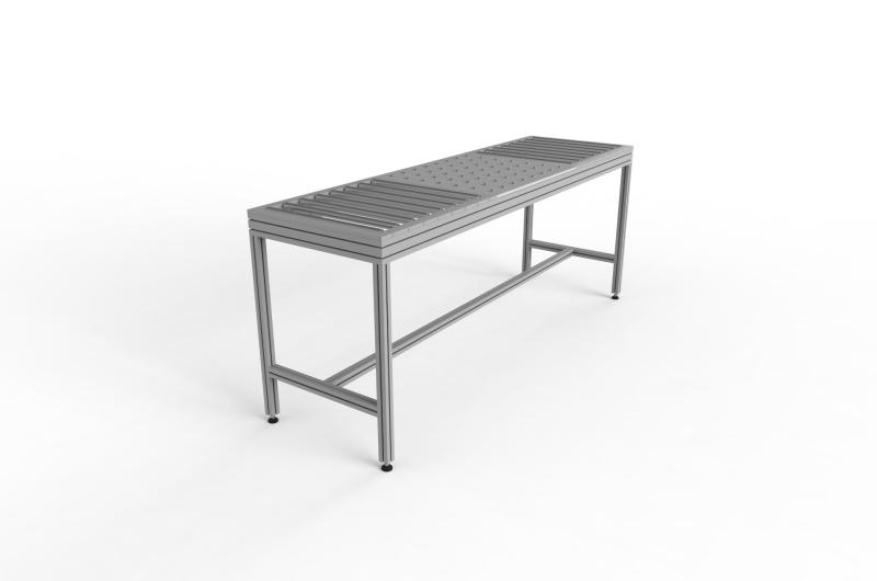 Tavoli con rulliera 12